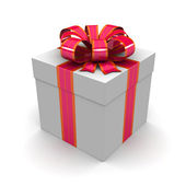 Gift box, with ribbon — Stock Photo
