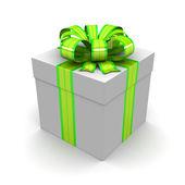 Gift box, with ribbon — Stock Photo
