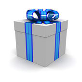 Gift box, with ribbon — Foto Stock