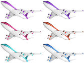 Passenger airplanes — Stock Photo