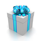 Gift box with ribbon — Stock Photo