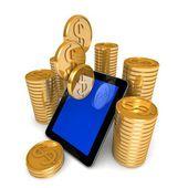 Dollar money phone concept — Stock Photo