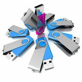 3D colorful models USB Flash Drive — Stock Photo