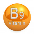 Vitamin B9 Isolated — Stock Photo #51229649