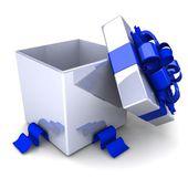 Opened gift box — Stock Photo