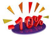 10 percent discount — Stock Photo