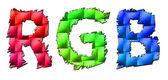 RGB symbols isolated on white. — Stock Photo