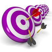 Bullseye 3d dart ile iş ve spor kavramı — Stok fotoğraf