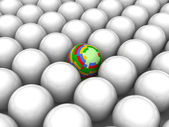 Abstract background with color ball — Stock Photo