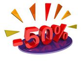 Fifty percent discount — Stock Photo