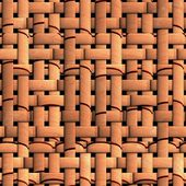 Seamless texture of wicker baskets — Stock Photo