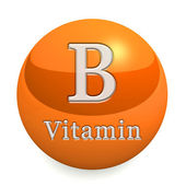 Vitamin B Isolated — Stockfoto