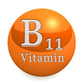 Витамин b11 изолирован — Стоковое фото