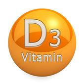 Vitamin D3 Isolated — Stock Photo