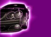 汽车 3d 模型分离 — 图库照片