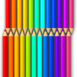 Multi colored pencils isolated on white background. — Stock Photo #51232619