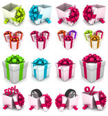 Gift box, with ribbon like a present. — Stock Photo