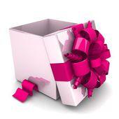 Geopende geschenkdoos — Stockfoto