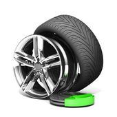 Wheels, Rims , brake pads and discs. — Stock Photo
