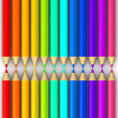 Multi colored pencils isolated on white background. — Stock Photo