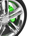 Wheel isolated on white — Stock Photo