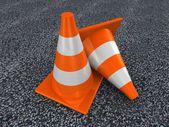 3d traffic cones — Stock Photo