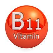 Vitamin B11 Isolated — Zdjęcie stockowe