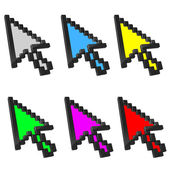 Cursors arrows shiny icons — Stock Photo