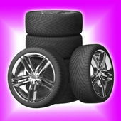 Wheels car. Car tires. — Stock Photo