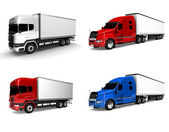 Freight truck isolated — Stock Photo