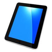 Black tablet pc — Stock Photo