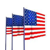 American Flags for Independence Day. — Stock Photo