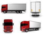 Camión de carga. auto entrega aislada — Foto de Stock