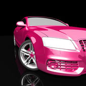 Car pink color on a dark background — Stock Photo