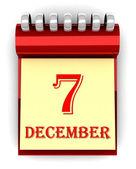 3d bunten kalender mit terminen — Stockfoto