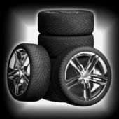 Wheels car. Car tires. — Foto de Stock