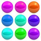 Web glossy button set — Stock Photo