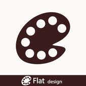 Color palette icon — Stock Photo