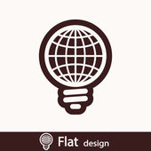 Global light bulb icon — Foto Stock