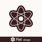 Atom-ikonen — Stockfoto