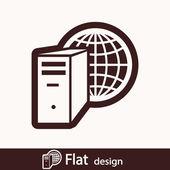 Computer server icon — Stock fotografie
