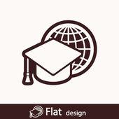 Internet training icon — Foto de Stock
