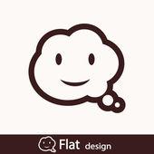 Smile talking bubble icon — Stock Photo