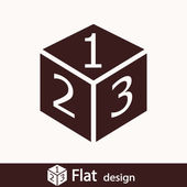 3d cube logo design icon — Stock Photo