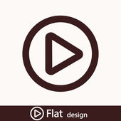 Play button web icon — Stock Photo
