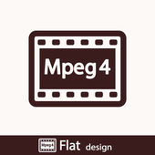 MPEG4 video icon — Stock Photo