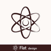 Abstract physics science model icon — Foto de Stock