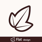 Leaves icon — Stock Photo