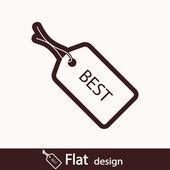 Mejor icono de etiqueta — Foto de Stock