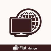 Monitor icon — Stock Photo
